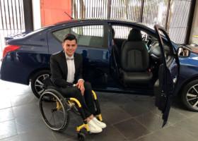Versa Go, el auto de Nissan para personas con discapacidad motriz
