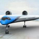Flying-V: Un prototipo del avión de alas voladoras de aspecto futurista